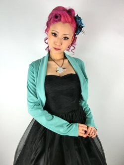 画像1: ☆Lindy Bop☆Jersey Pastel Green Shrug Top 13〜15号