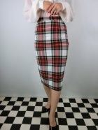 他の写真1: ☆HELL BUNNY☆Jodie Pencil Skirt White Tartan 13号
