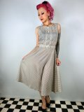 ☆Collectif☆Aida Zak Maria Polka Dot Dress Cream 11号