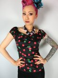 ☆Collectif☆Dolores 50s Cherry Print Top 15号