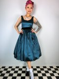 ☆Collectif☆Luna Taffeta Swing Dress Teal 9号