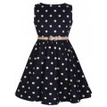 ☆Lindy Bop☆Children's Audrey Navy Polka Party Dress 3〜4歳用