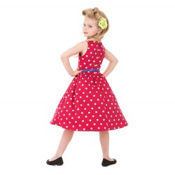 画像5: ☆Lindy Bop☆Children's Audrey Red Polka Party Dress 3〜4歳用