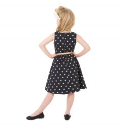 画像5: ☆Lindy Bop☆Children's Audrey Navy Polka Party Dress 3〜4歳用