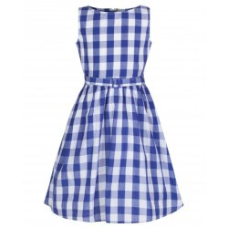 画像1: ☆Lindy Bop☆Children's Royal Blue Gingham Dress  5〜6歳用