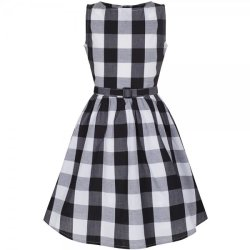 画像1: ☆Lindy Bop☆Children's Black Gingham Dress  3〜4歳用