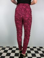 他の写真3: ☆Collectif☆Maddie Leopard Flock Trousers Pink/Black 9号