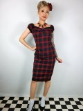 ☆Collectif☆Dolores Tai Tartan Pencil Dress 11号