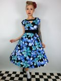 ☆Lindy Bop☆Kelly Oriental Lily Blue Dress 9号