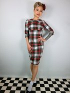 他の写真1: ☆HELL BUNNY☆Doralee Pencil Dress White Tartan 11号