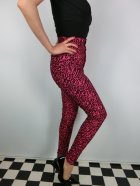 他の写真2: ☆Collectif☆Maddie Leopard Flock Trousers Pink/Black 9号