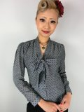 ☆Heart of Haute☆Elsa Blouse - Chambray Swiss Dot Black (S)9号