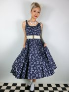 他の写真1: ☆HELL BUNNY☆Marin 50s Dress Navy 11号