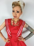 他の写真2: ☆H&R☆Red Sailor Long Dress 15号