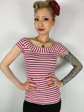 ☆Heart of Haute☆Marilyn Tee - Red/White Stripes (XS)7号