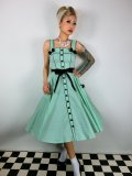 ☆HELL BUNNY☆Martie 50s Dress Mint 15号