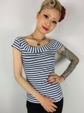 ☆Heart of Haute☆Marilyn Tee - Blue/White Stripes (L)13号