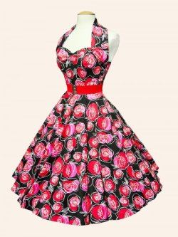 画像3: Vivien of Holloway Red Rose Dress Size18(15号)