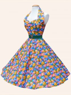 画像2: Vivien of Holloway Floral Fiesta Dress Size14(11号)