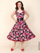 他の写真2: Vivien of Holloway Red Rose Dress Size20(17号)