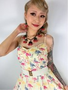 他の写真2: ☆Collectif☆Fairy Flamingo Print Swing Dress 17号