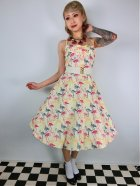 他の写真1: ☆Collectif☆Fairy Flamingo Print Swing Dress 15号