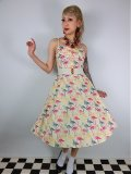 ☆Collectif☆Fairy Flamingo Print Swing Dress 15号