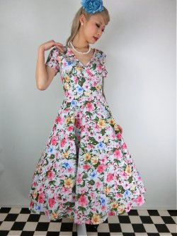 画像2: ☆Collectif☆Maria Artistic Floral Swing Dress 13号