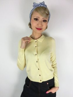 画像1: ☆Lindy Bop☆Novak Lemon Cardigan 17〜19号