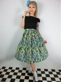 ☆Lindy Bop☆Abstract Annalise Green Skirt 13号