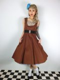 ☆Lindy Bop☆'Ophelia' Vintage  Chocolate  Dress  11号