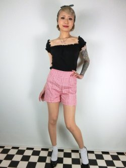 画像2: ☆Lindy Bop☆Nishka Red Gingham Shorts 11号