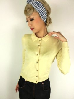 画像2: ☆Lindy Bop☆Novak Lemon Cardigan 17〜19号