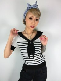 ☆HELL BUNNY☆Coco Top Black/White 11号