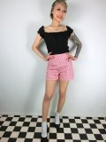 ☆Lindy Bop☆Nishka Red Gingham Shorts 11号