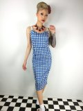 ☆Collectif☆Nancy Painted Gingham Pencil Dress 7号