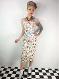 ☆Collectif☆Ginger Atomic Flamingo Wing Bust Dress 15号