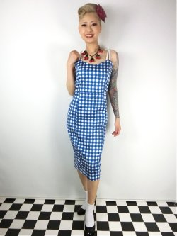 画像2: ☆Collectif☆Nancy Painted Gingham Pencil Dress  9号