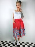 ☆Lindy Bop☆Adalene Red Tulip Swing Skirt 11号