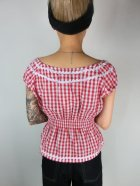 他の写真3: ☆Lindy Bop☆Caterina Red Gingham Top  11号