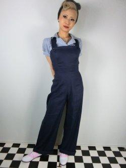 画像1: ☆HELL  BUNNY☆Penny Dungarees Navy 15号