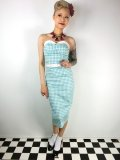 ☆Collectif☆Monica Gingham Pencil Dress Mint  9号