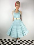☆Collectif☆Lori Gingham Swing Dress Mint13号