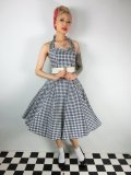 ☆Collectif☆Lori Gingham Swing Dress Black 15号