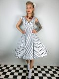 ☆Collectif☆Pamela Polka Dot Doll Dress 15号