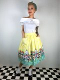 ☆Lindy Bop☆Contessa Yellow Venice Border Skirt 9号