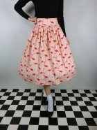 他の写真1: ☆Lindy Bop☆Praia Flamingo Print Swing Skirt 11号