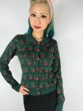 ☆Collectif☆Wendy Cherry Cardigan Green 15号