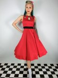 ☆H&R☆50s Red Eva Swing Dress 15号