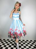 ☆Collectif☆Antoinette Striped Flamingo Dress 15号